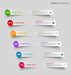 Time line info graphic with bent gray stripes vector