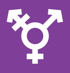 Transgender symbol in violet color background vector