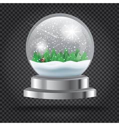 Transparent Christmas Crystal Ball vector image