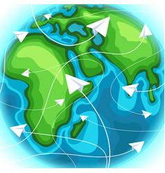 travelling around world travel destination vector image