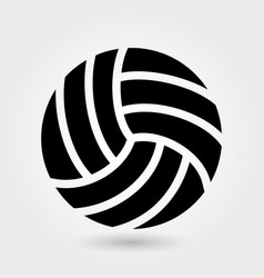 volleyball icon volley sports icon sports ball vector image