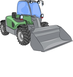 wheel mini bulldozer vector image