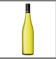 white wine bottle isolated on white background vector image