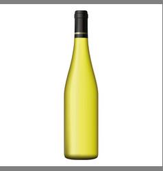 white wine bottle isolated on white background vector image