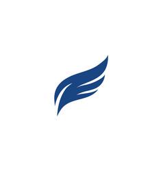 wing logo template icon design vector image