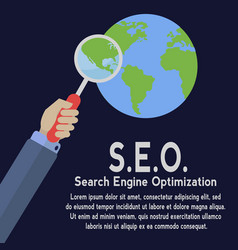 world wide search engine optimization vector image