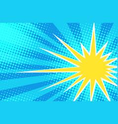 Yellow sun on blue sky vector