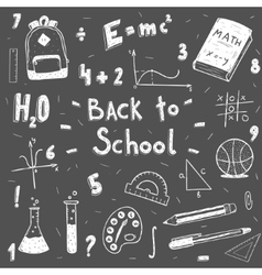 back to school doodle set vector image vector image