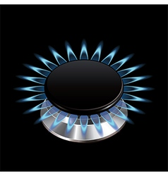 gas flame stove isolated vector image vector image