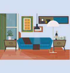 living room with furniture armchair couch vector image