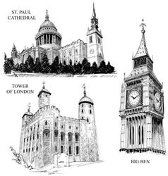 london architectural symbols vector image