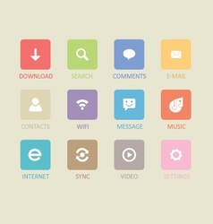 Mobile and tablet app icons 4 vector image