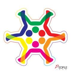 People snowflake icon vector image vector image