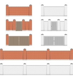 Stone bricks fence vector
