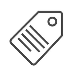 tag thin line icon vector image