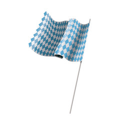 Bavarian official flag symbol banner vector