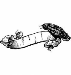 crow banner illustration vector image