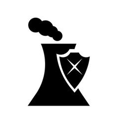 dangerous factory icon vector image