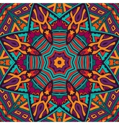 Tribal abstract floral mandala seamless pattern vector