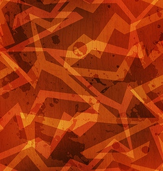 tribal warm color grunge texture with grunge vector image