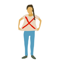 Woman protest icon cartoon style vector