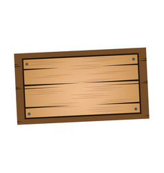 wooden board old style blank icon vector image