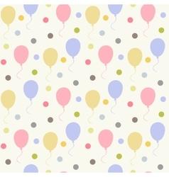Balloons pattern flat vector image vector image