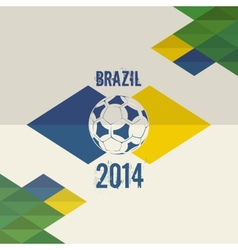 Brazil soccer world cup 2014 background vector image vector image
