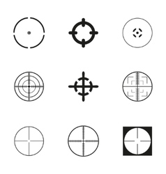 crosshair icons set vector image