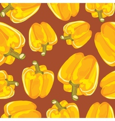 Yellow bell pepper seamless background vector image