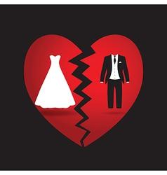 bride groom vector image