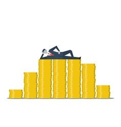 Financial business successful entrepreneur money vector