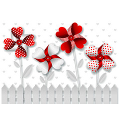 greetings card for valentines day in paper art vector image vector image
