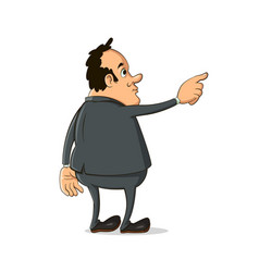 man pointing finger away vector image vector image