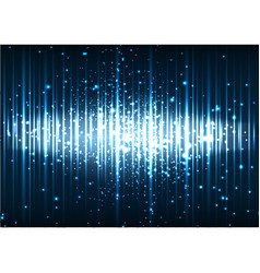 Abstract blue space light effect background vector