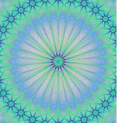 Abstract star mandala fractal background vector