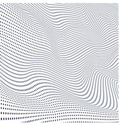abstract wave particles surface wave dots vector image