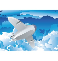 Airplane in the Sky7 vector image