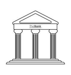 Ancient greek building icon line design vector