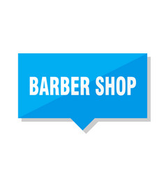 Barber shop price tag vector