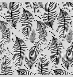 Beautiful black leaves pattern background vector