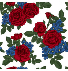 Beautiful vintage seamless pattern with bouquets vector