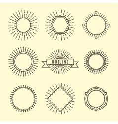 Black outline labels vector