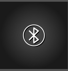 bluetooth icon flat vector image
