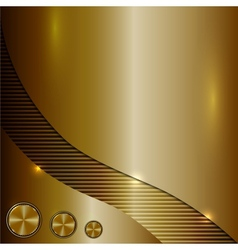 Bronze metallic background vector
