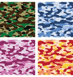 camouflage patterns vector image