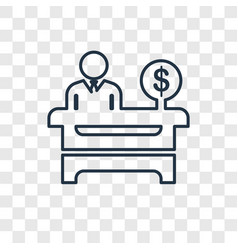 cashier concept linear icon isolated on vector image
