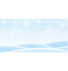 colorful naturalistic winter background with vector image