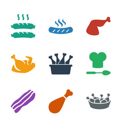 Cooked icons vector