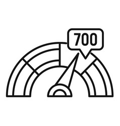 Credit score indicator icon outline style vector